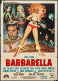 "Movie Posters:Science Fiction, Barbarella (Paramount, 1968). Italian 2 - Foglio (39"" X 55"").Science Fiction.. ..."