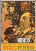 """Movie Posters:Hitchcock, The Birds/Psycho (Universal, R-1970s). Czech Poster (11.5"""" X 16"""").Hitchcock.. ..."""