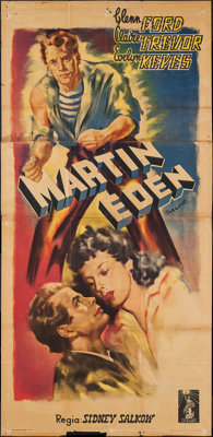 """The Adventures of Martin Eden & Other Lot (Columbia, 1947). First Release Italian Poster (39"""" X 81"""") &..."""