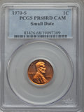Proof Lincoln Cents, 1970-S 1C Small Date PR68 Red Cameo PCGS. PCGS Population (45/1). NGC Census: (17/1). Numismedia Wsl. Price for problem fr...