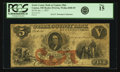 Obsoletes By State:Ohio, Canton, OH - Stark County Bank at Canton, Ohio $5 Jan. 1, 1857OH-25 G12a, Wolka 0280-05. PCGS Fine 15.. ...