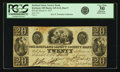 Obsoletes By State:Ohio, Kirtland, OH - Kirtland Safety Society Bank $20 Mar. 9, 1837 OH-245G12, Wolka 1424-14, Rust 9. PCGS Very Fine 30 Apparent....