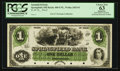 Obsoletes By State:Ohio, Springfield, OH - Springfield Bank $1 18__ OH-400 (G6) UNL, Wolka2452-01 Proof. PCGS Choice New 63 Apparent.. ...