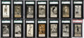 Baseball Cards:Lots, 1923 - 1938 E137 Zeenut Baseball Type Run (14) - All With Coupons!...