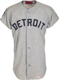 Baseball Collectibles:Uniforms, 1968 Al Kaline World Series Clincher Game Worn Detroit Tigers Jersey, MEARS A10....
