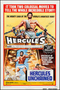 "Movie Posters:Action, Hercules/Hercules Unchained Combo & Other Lot (Avco EmbassyR-1973). Autographed One Sheet & One Sheet (27"" X 41"").Action.... (Total: 2 Items)"