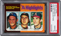 Baseball Cards:Singles (1970-Now), 1975 Topps 74 Highlights Nolan Ryan #7 PSA Gem Mint 10....
