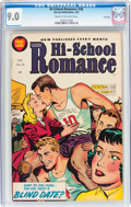 Golden Age (1938-1955):Romance, Hi-School Romance #36 File Copy (Harvey, 1955) CGC VF/NM 9.0 Cream to off-white pages....
