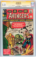 Silver Age (1956-1969):Superhero, The Avengers #1 Signature Series (Marvel, 1963) CGC VG/FN 5.0 White pages....