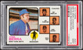 Baseball Cards:Singles (1970-Now), 1973 Topps Mets Mgr./Coaches, Orange Background #257 PSA Mint 9....