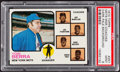 Baseball Cards:Singles (1970-Now), 1973 Topps Mets Mgr./Coaches, Brown Background #257 PSA Mint 9....