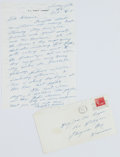 Football Collectibles:Others, Curly Lambeau Handwritten Signed Letter - January 25, 1965 (Green Bay Packers Famed Coach) - Don Hutson Content....