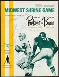 Football Collectibles:Programs, 1967 Chicago Bears Team Signed Packers Vs. Bears Program - With Brian Piccolo, Halas, Etc....