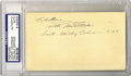 Autographs:Letters, Mickey Cochrane Signed Postcard PSA Authentic. Known for his fierytemper, Cochrane was known to tear up locker rooms after ...