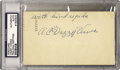 Autographs:Letters, Dazzy Vance Signed Postcard PSA Authentic. Dazzy Vance establishedhimself as a big league pitcher in 1922 with the Brookly...
