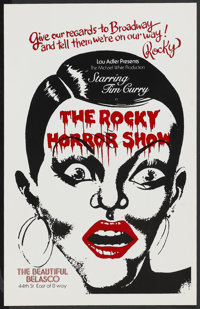 "The Rocky Horror Picture Show (Broadway Play, 1973). Window Card (14"" X 22""). Rock and Roll"