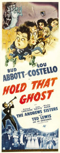 "Movie Posters:Comedy, Hold That Ghost (Universal, 1941). Insert (14"" X 36"")...."