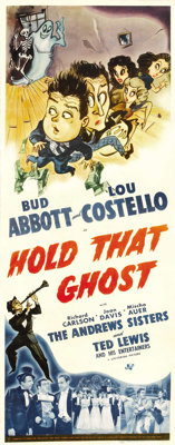 """Hold That Ghost (Universal, 1941). Insert (14"""" X 36"""")"""