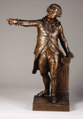 Bronze:European, Mirabeau. . François Joseph A. Truphème, French (1820-1888). 1857. Bronze with rich brown patination. 34 inches high. S...