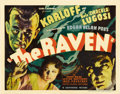 "Movie Posters:Horror, The Raven (Universal, 1935). Title Lobby Card (11"" X 14""). ..."