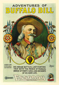 "Movie Posters:Documentary, Adventures of Buffalo Bill (Essanay, 1917). One Sheet (27"" X 41"")...."