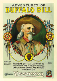 "Adventures of Buffalo Bill (Essanay, 1917). One Sheet (27"" X 41"")"