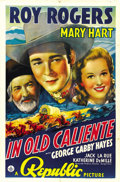 "Movie Posters:Western, In Old Caliente (Republic, 1939). One Sheet (27"" X 41""). ..."