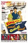 "Movie Posters:Elvis Presley, Girls! Girls! Girls! (Paramount, 1962). One Sheet (27"" X 41"").Elvis Presley...."