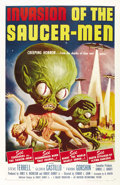 "Movie Posters:Science Fiction, Invasion of the Saucer-Men (American International, 1957). OneSheet (27"" X 41""). ..."