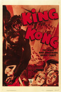 "Movie Posters:Horror, King Kong (RKO, R-1952). One Sheet (27"" X 41""). ..."