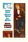 "Movie Posters:Drama, Rebel Without a Cause (Warner Brothers, R-1957). One Sheet (27"" X41""). Drama...."
