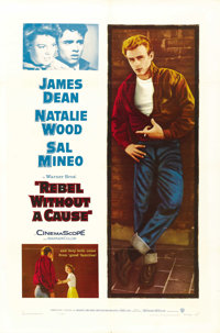 """Rebel Without a Cause (Warner Brothers, R-1957). One Sheet (27"""" X 41""""). Drama"""