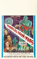 "Movie Posters:Science Fiction, Invaders From Mars (20th Century Fox, 1953). Window Card (14"" X22""). ..."