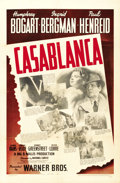 "Movie Posters:Drama, Casablanca (Warner Brothers, 1942). One Sheet (27"" X 41""). ..."