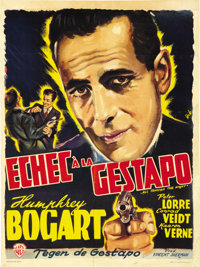 """All Through the Night (Warner Brothers, Late 1940s). Post-War Belgian (14"""" X 22"""")"""