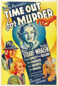 "Time Out for Murder (20th Century Fox, 1938). One Sheet (27"" X 41"")"