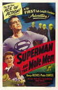 "Movie Posters:Action, Superman and the Mole Men (Lippert, 1951). One Sheet (27"" X 41"")...."
