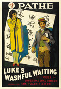 "Movie Posters:Comedy, Luke's Washful Waiting (Pathe', 1916). One Sheet (27"" X 41""). ..."