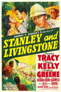 "Stanley and Livingstone (20th Century Fox, 1939). One Sheet (27"" X 41"") Style A"