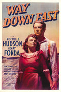 "Movie Posters:Drama, Way Down East (20th Century Fox, 1935). One Sheet (27"" X 41""). ..."
