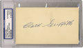 Autographs:Letters, Clark Griffith Signed Postcard PSA Authentic. Enshrined into theHall of Fame in 1946, Clark Griffith was first a player, h...