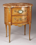 Furniture : French, A LOUIS XVTH-STYLE INLAID SATINWOOD STAND. 19th Century. 28-1/2 x24 x 16 inches (72.4 x 61.0 x 40.6 cm). ... (Total: 2 Items)