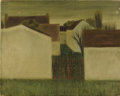 Fine Art - Painting, American:Modern  (1900 1949)  , J. FALCON (Twentieth Century?). Landscape, White Houses. Oilon canvas. 13 x 16-1/2 inches (33.0 x 41.9 cm). Signed ...