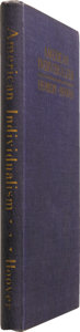 Books:Signed Editions, Herbert Hoover: Signed First Edition of AmericanIndividualism....
