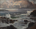 Texas:Early Texas Art - Impressionists, FREDERICK W. BECKER (1888-1974). Storm at Sea. Oil oncanvas. 16 x 20 inches (40.6 x 50.8 cm). Signed lower right.Signe...