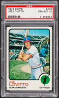 Baseball Cards:Singles (1970-Now), 1973 Topps Joe Lovitto #276 PSA Gem Mint 10 - Pop Three....