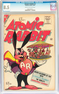 Golden Age (1938-1955):Funny Animal, Atomic Rabbit #2 (Charlton, 1955) CGC VF+ 8.5 Cream to off-whitepages....