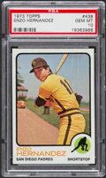 Baseball Cards:Singles (1970-Now), 1973 Topps Enzo Hernandez #438 PSA Gem Mint 10....