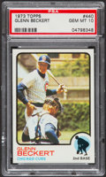 Baseball Cards:Singles (1970-Now), 1973 Topps Glenn Beckert #440 PSA Gem Mint 10....