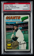 Baseball Cards:Singles (1970-Now), 1977 Topps Larry Herndon #397 PSA Gem Mint 10 - Pop Two. ...